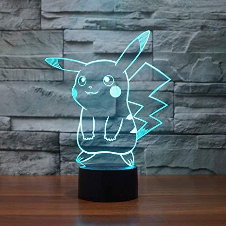 pikachu 3d led night light