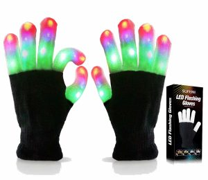 kids led flashing gloves