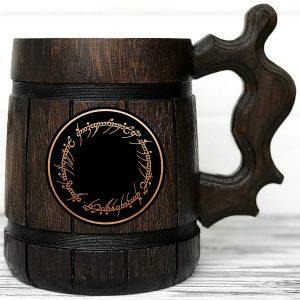 lord of the rings wood mug one ring mug