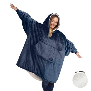 the comfy oversized sherpa blanket