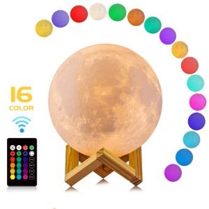 moon lamp with stand 16 colors led